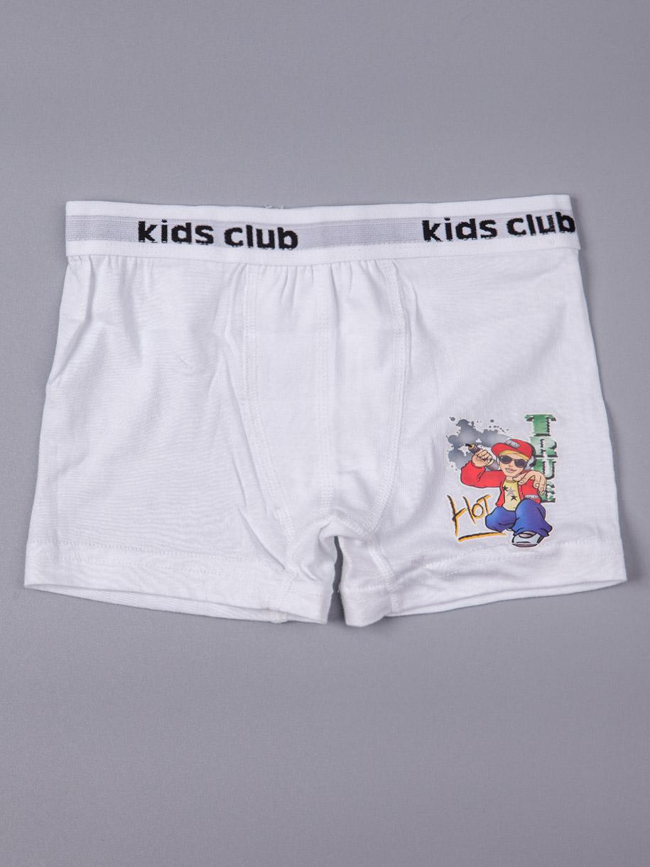 Трусы-боксеры для мальчика, наклейка, белый